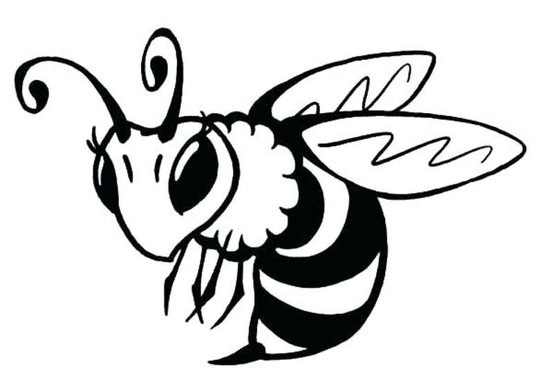 bee kind coloring pages