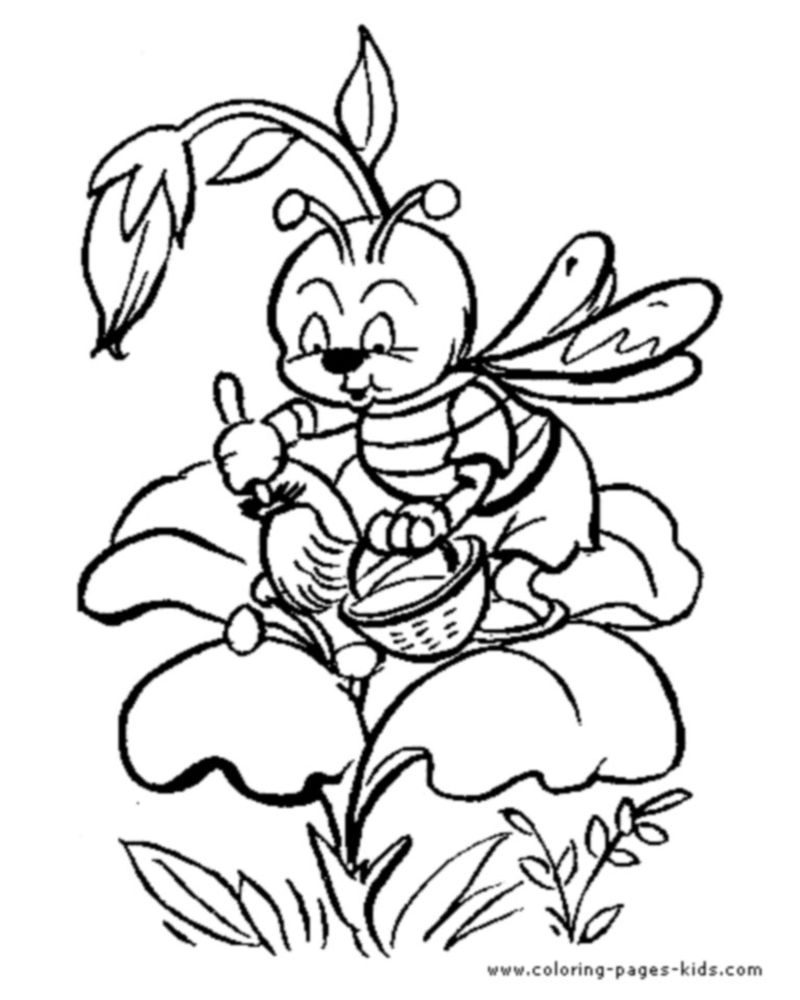 bee movie coloring pages