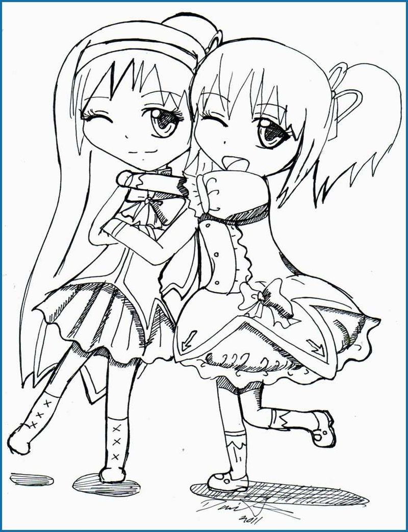 best friend coloring page image