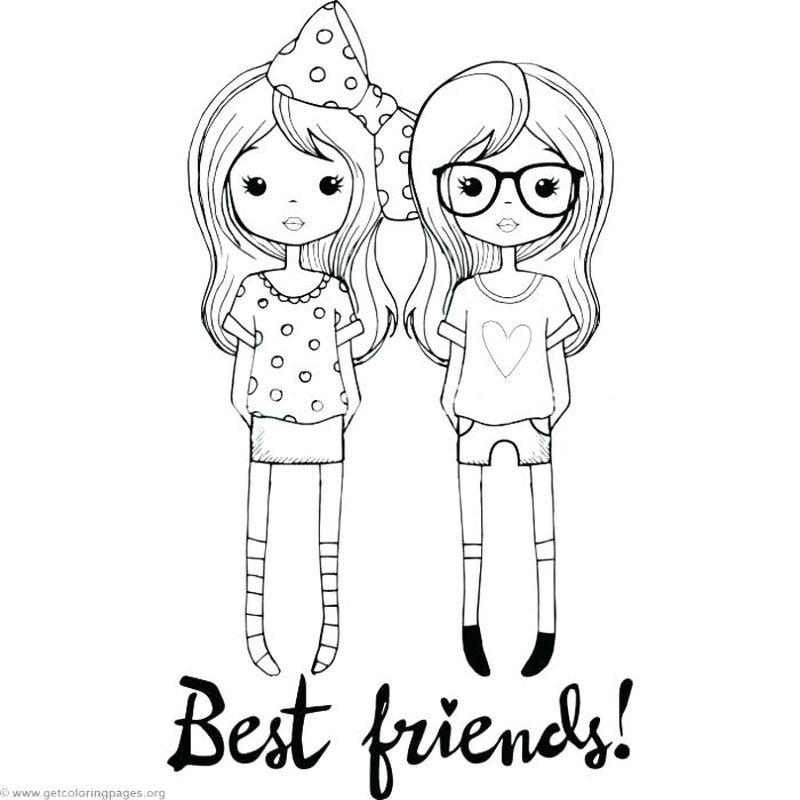 best friend coloring page print free