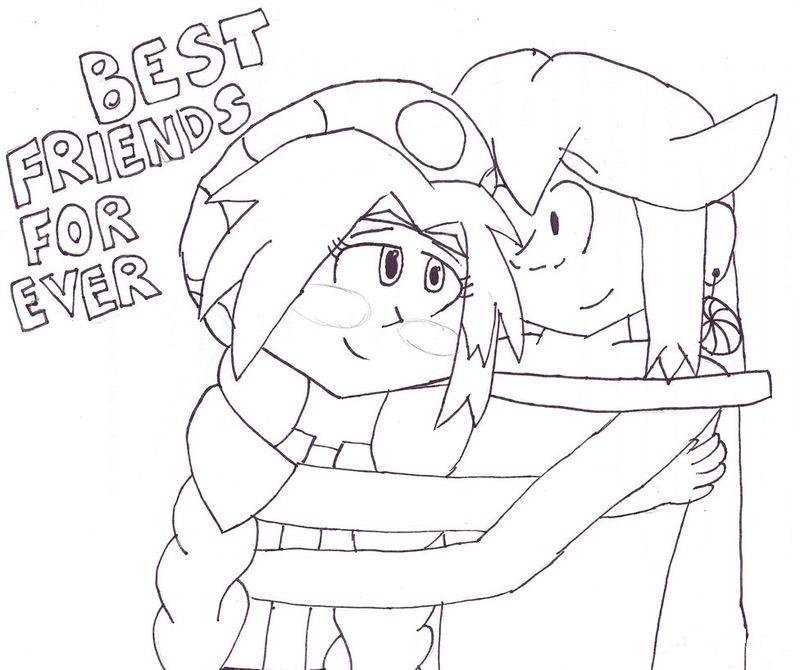 best friend coloring page ti pic