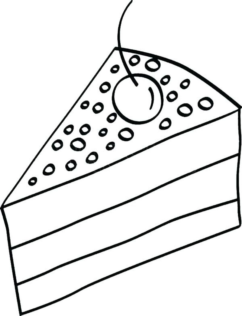 big cake coloring pages