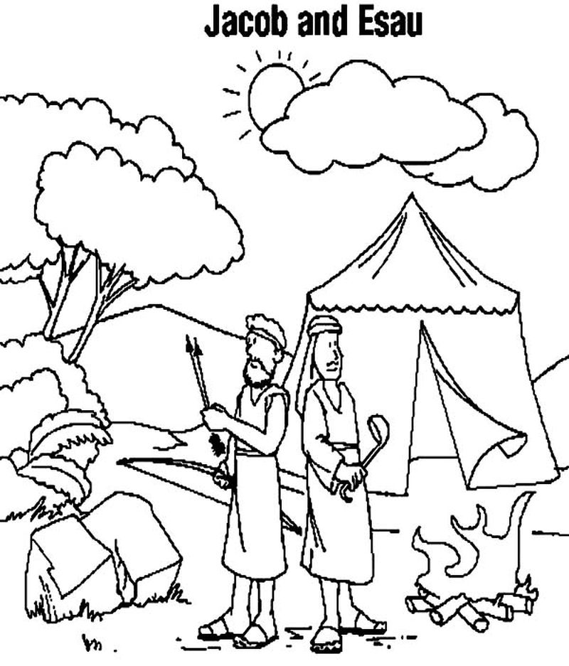 big camping coloring pages