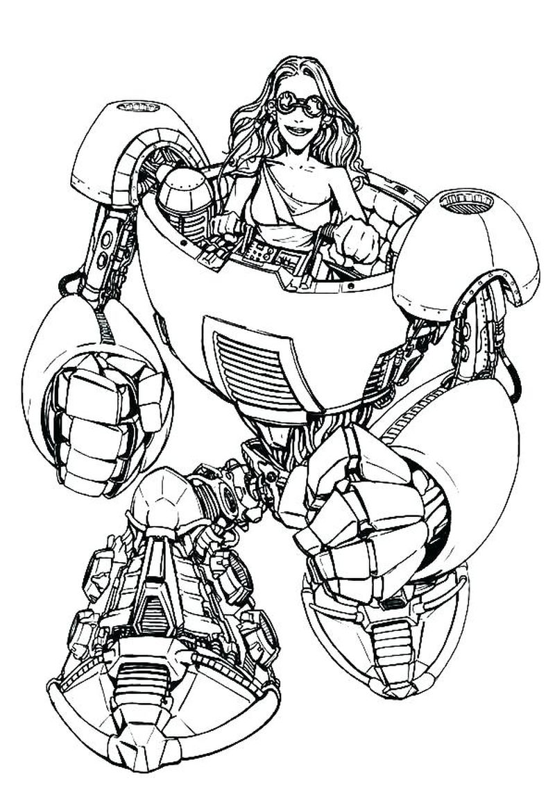 big robot coloring pages