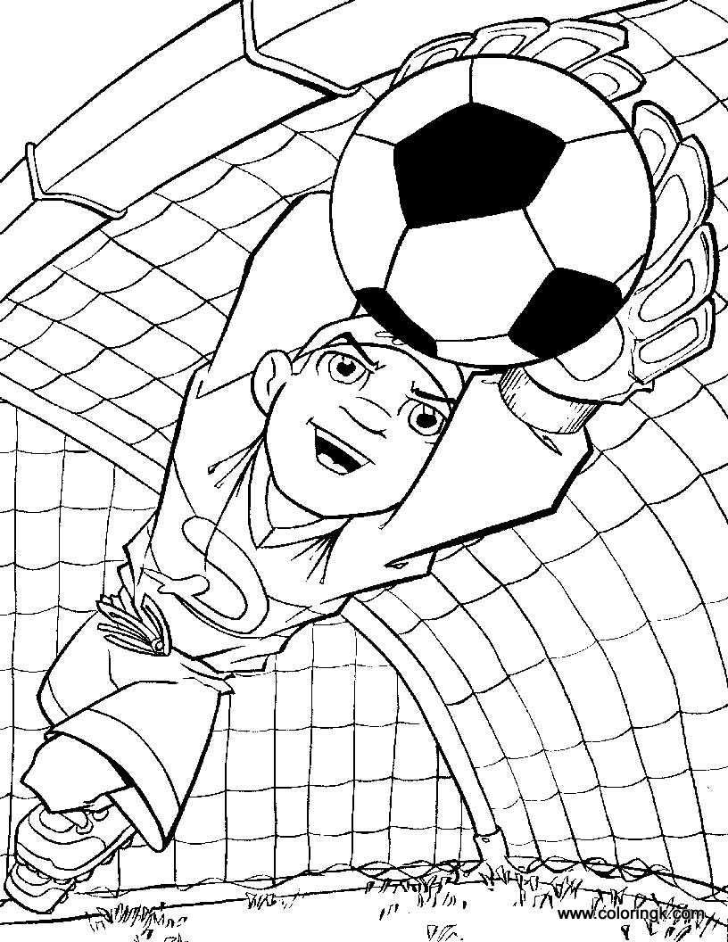 big soccer ball coloring pages