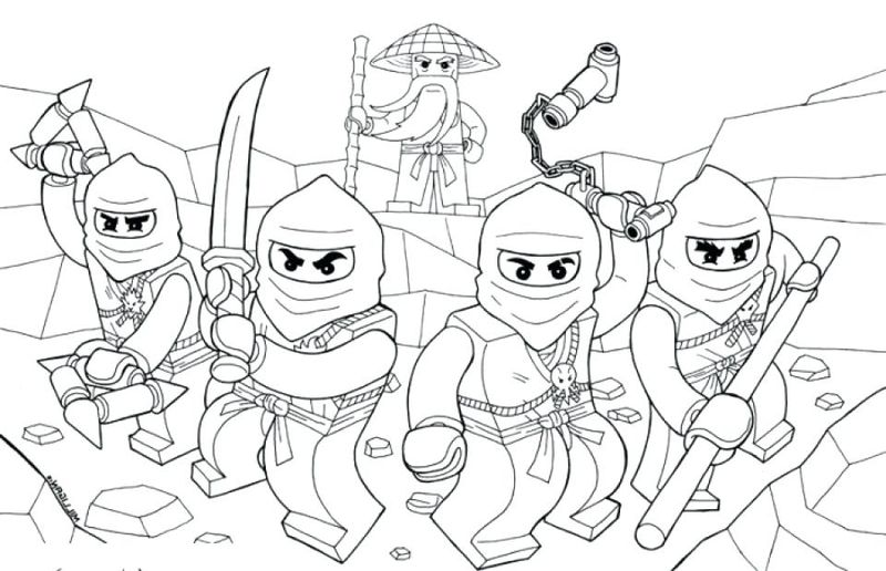 black and white ninja coloring pages