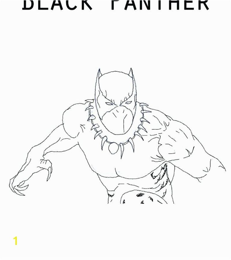 black panther coloring pages 2018