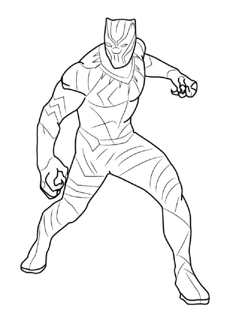 black panther coloring pages marvel