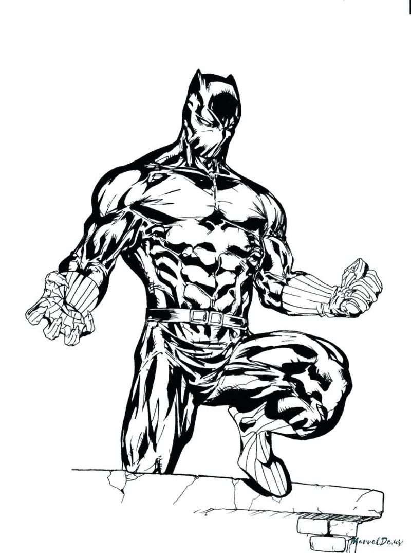 black panther coloring pages super coloring