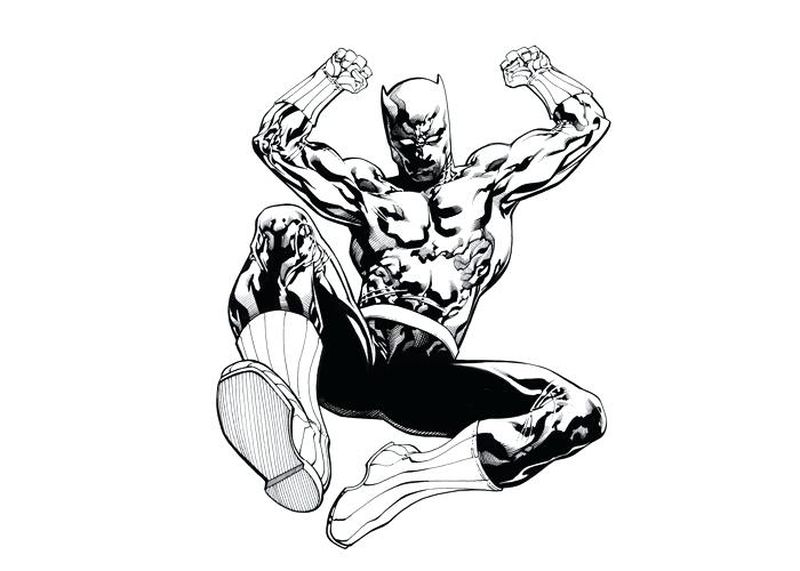 black panther face coloring pages