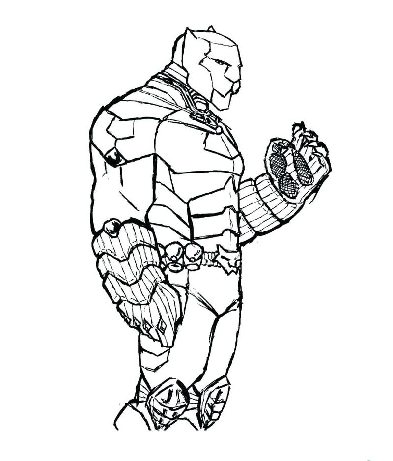 black panther halloween coloring pages