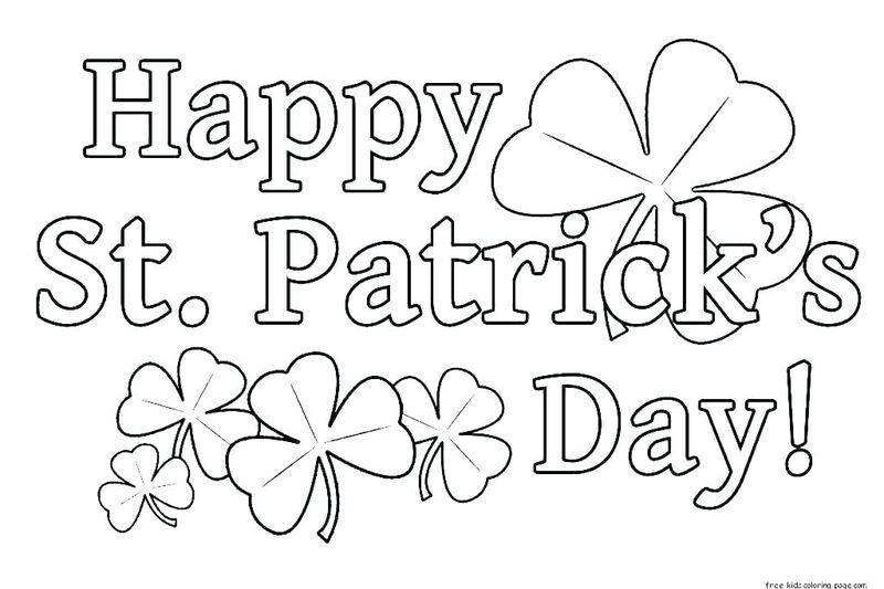 blank shamrock coloring page free