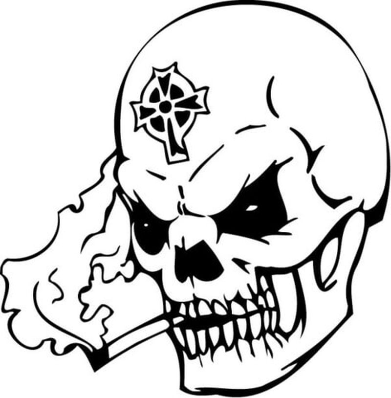 blank skull coloring pages