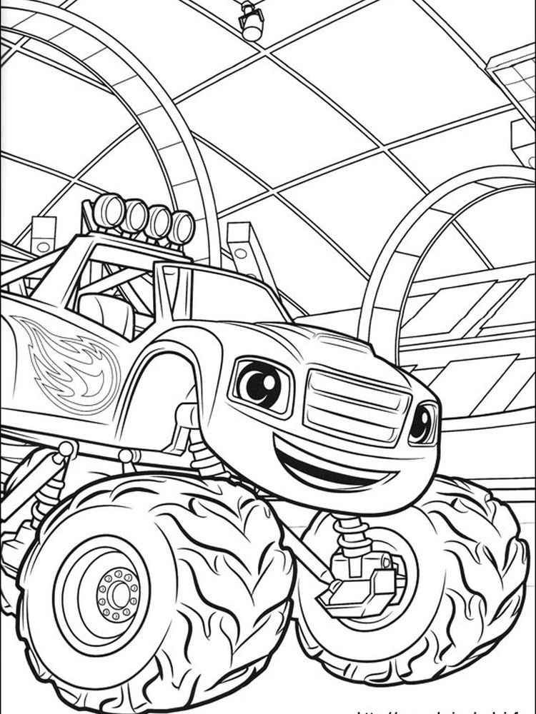 blaze and the monster machine coloring page