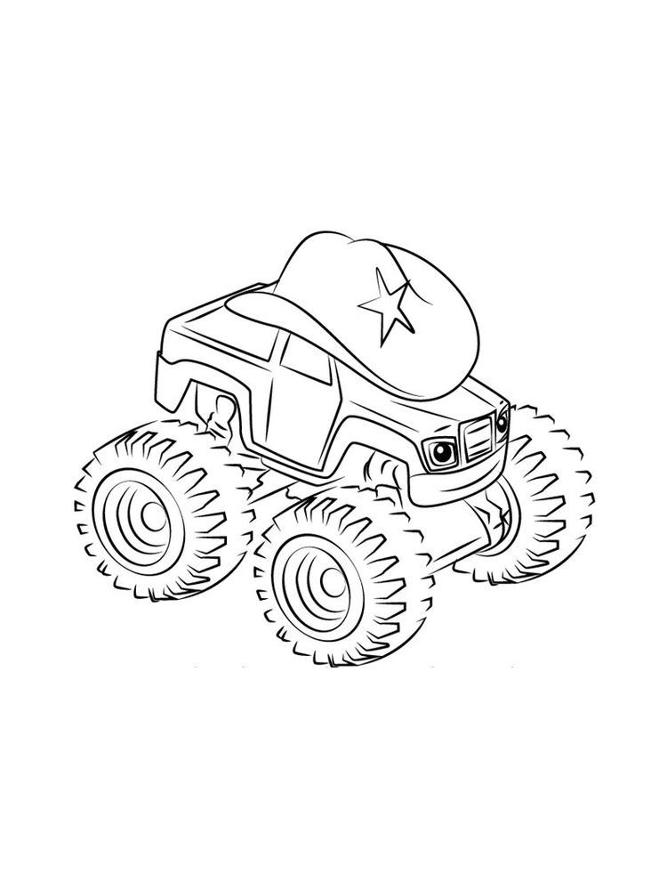 blaze and the monster machine coloring pages for kids free easy