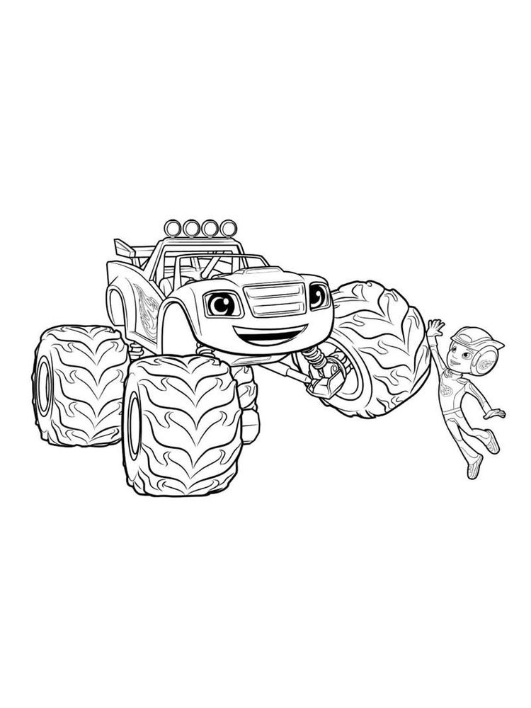 blaze and the monster machine coloring pages for kindergarten pdf