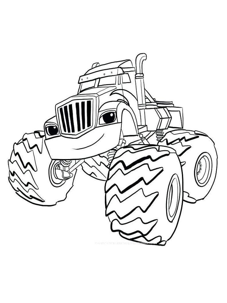 blaze and the monster machine coloring pages for kindergarten print