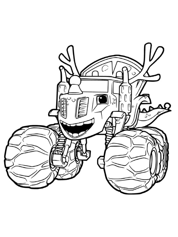 blaze and the monster machines characters coloring pages sheet