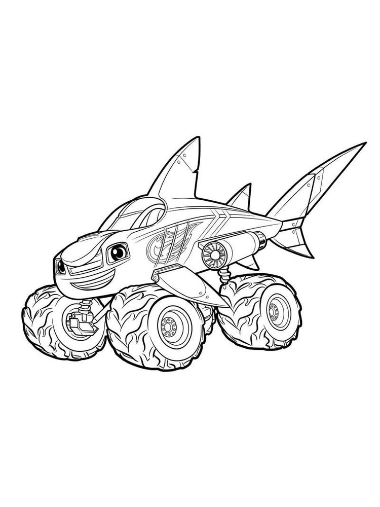 blaze and the monster machines characters coloring pages