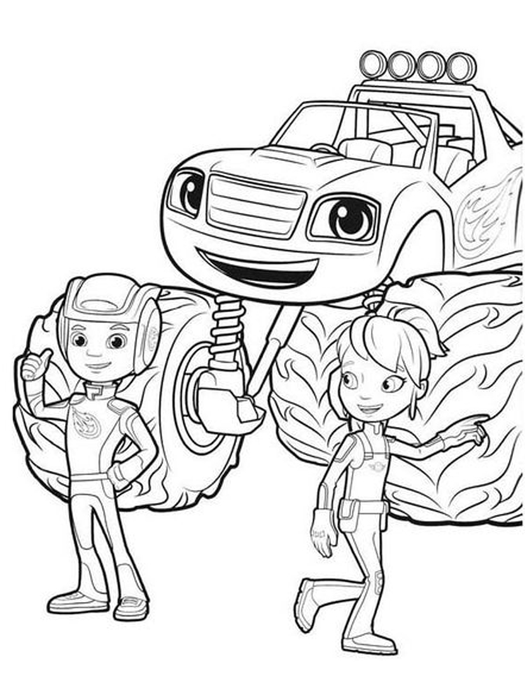 blaze and the monster machines coloring pages download