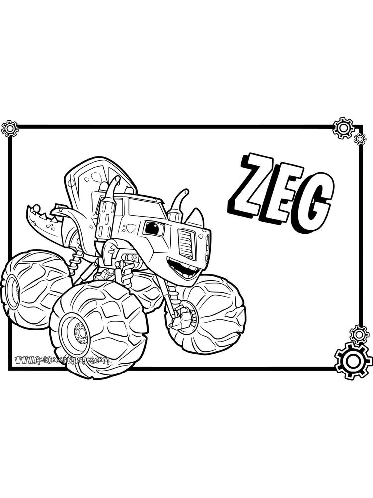 blaze and the monster machines coloring pages free printable sheet
