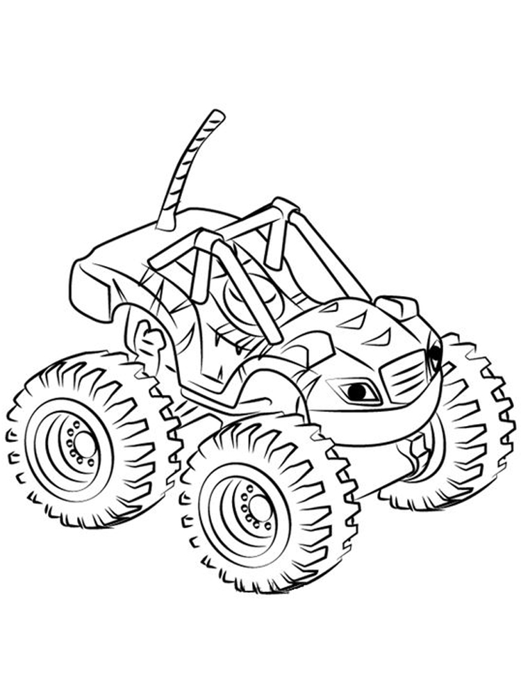 blaze and the monster machines coloring pages image sheet