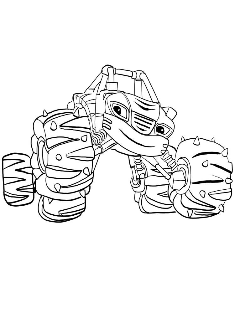 blaze and the monster machines coloring pages online sheet