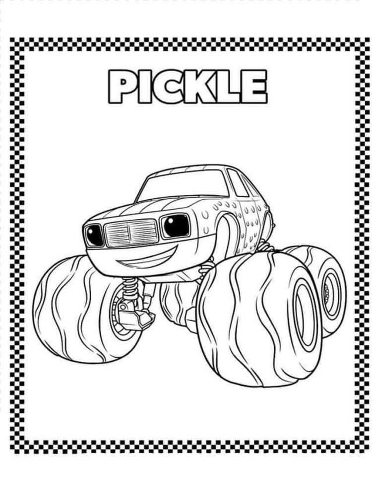 blaze and the monster machines coloring pages pdf sheet