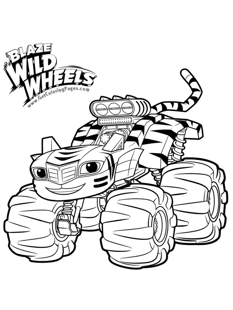 blaze and the monster machines coloring pages printable sheet
