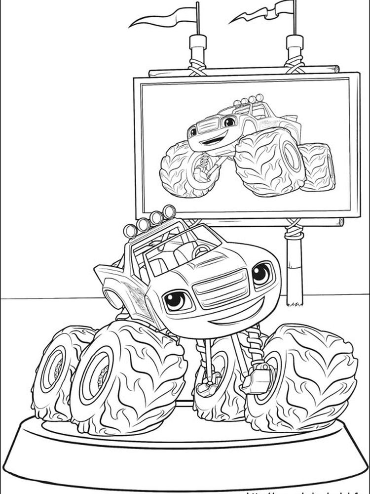 blaze and the monster machines coloring pages printable