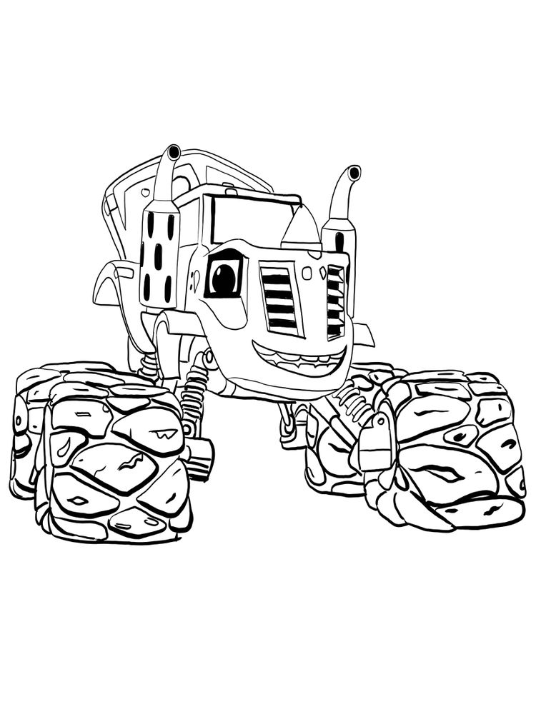 blaze and the monster machines coloring pages sheet easy