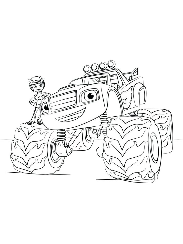 blaze and the monster machines coloring pages sheet