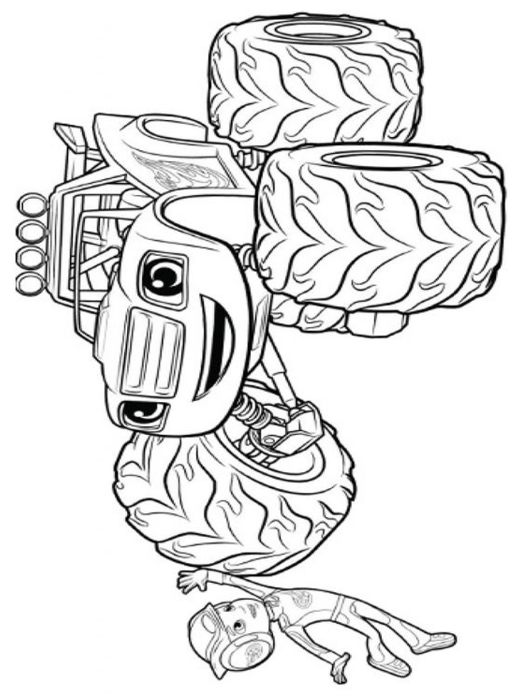 blaze and the monster machines coloring pages to printable