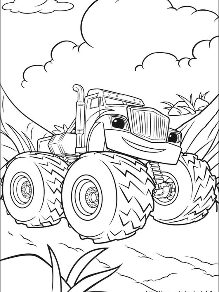 blaze and the monster machines colouring pages to print