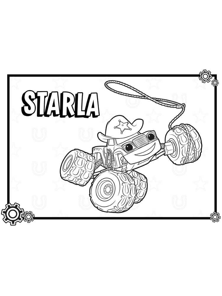 blaze and the monster machines crusher coloring pages sheet