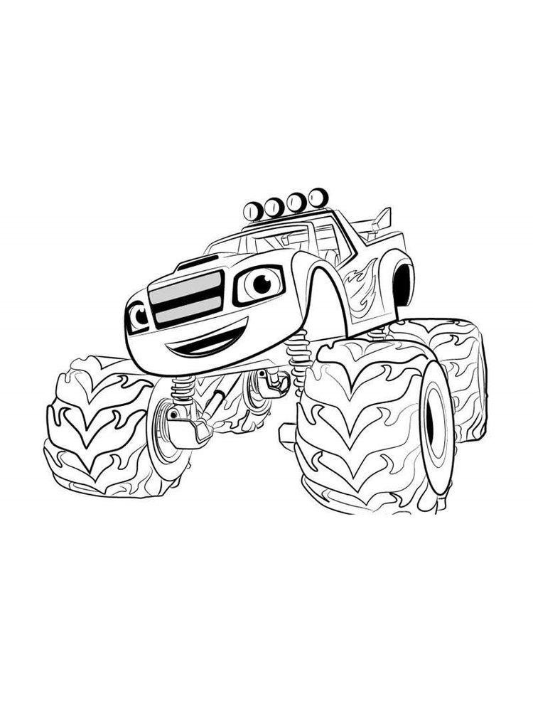 blaze and the monster machines free colouring pages