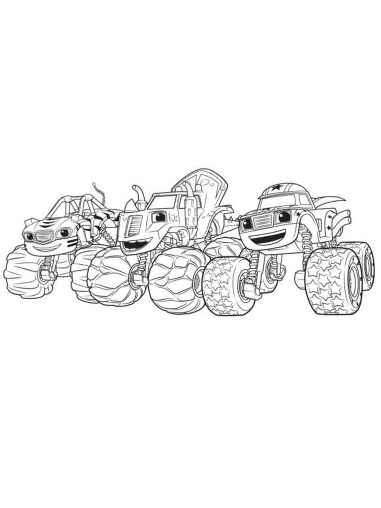 blaze and the monster machines printable colouring pages