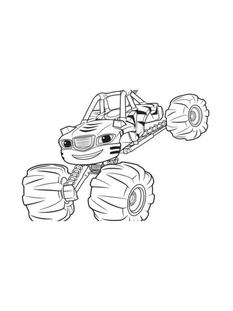 blaze and the monster machines toys coloring pages