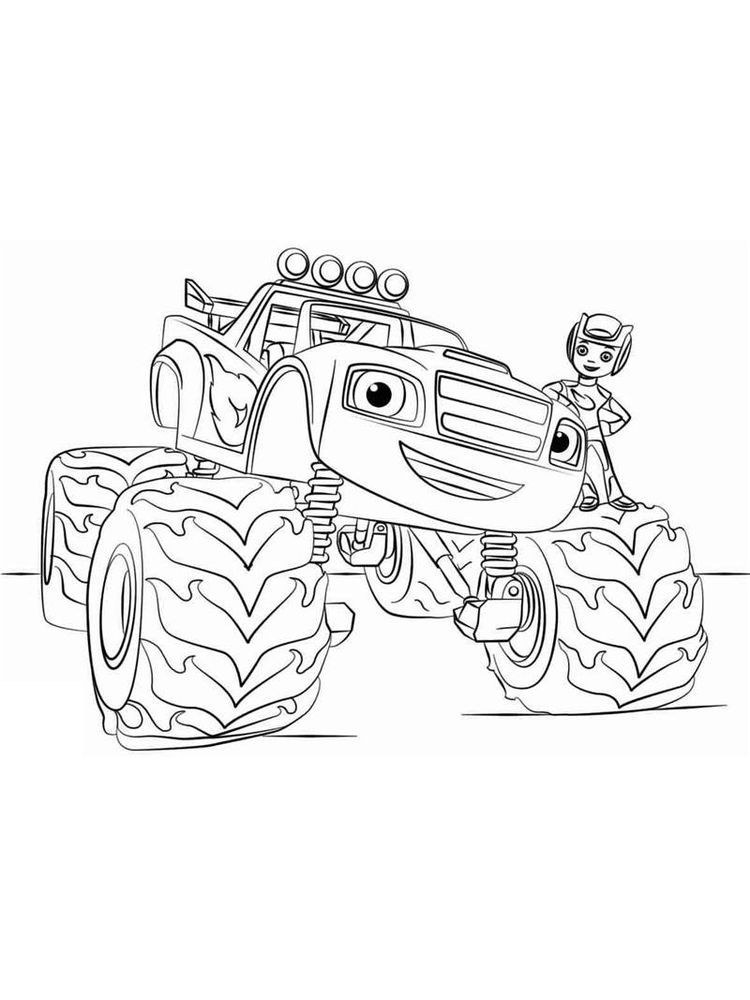 blaze and the monster machines watts coloring pages