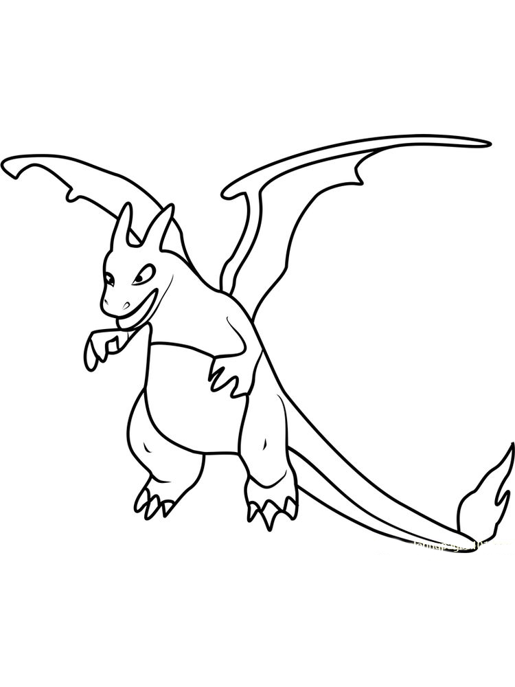 blue charizard coloring pages