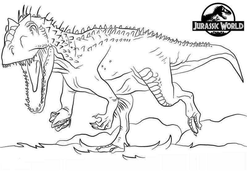 blue from jurassic world coloring pages
