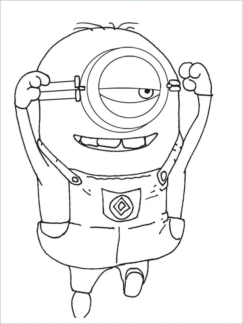 bob from minions coloring pages