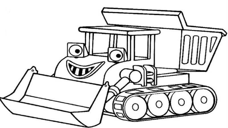bob the builder characters coloring pages