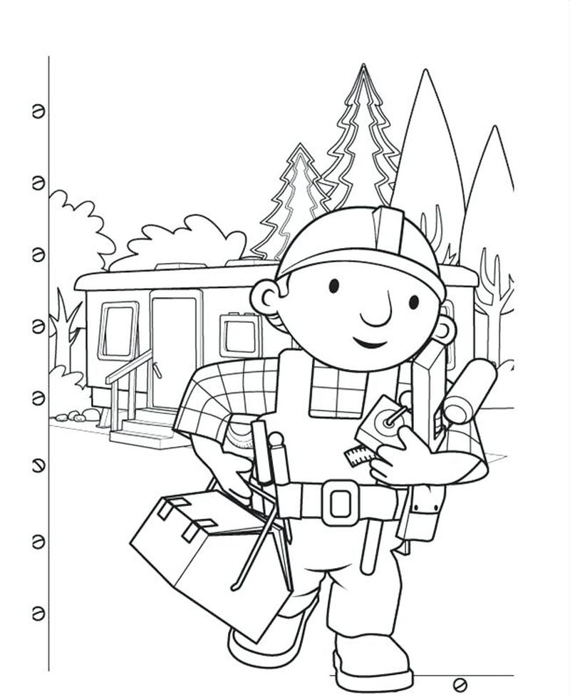 bob the builder coloring pages free printables