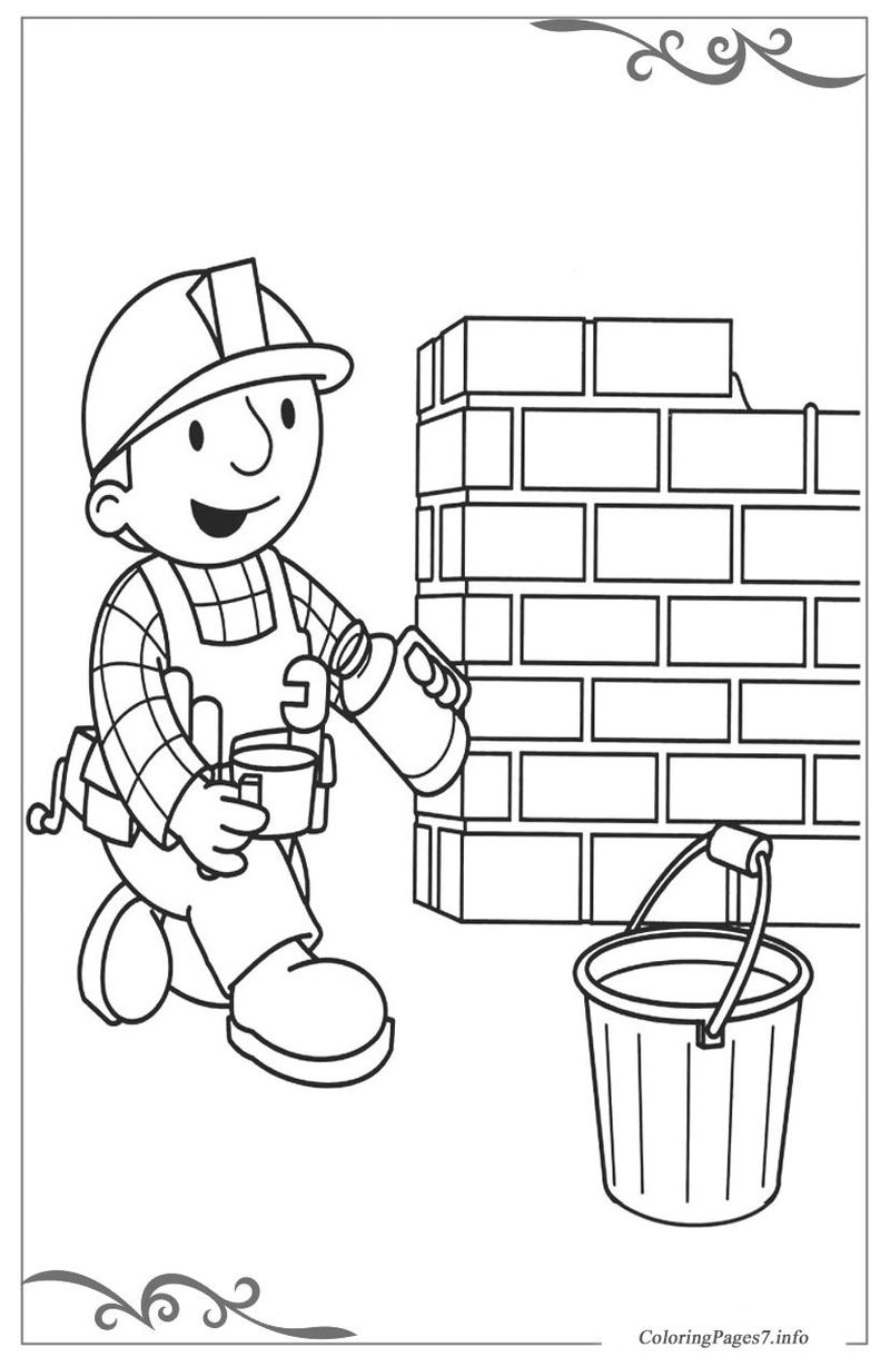 bob the builder coloring pages online