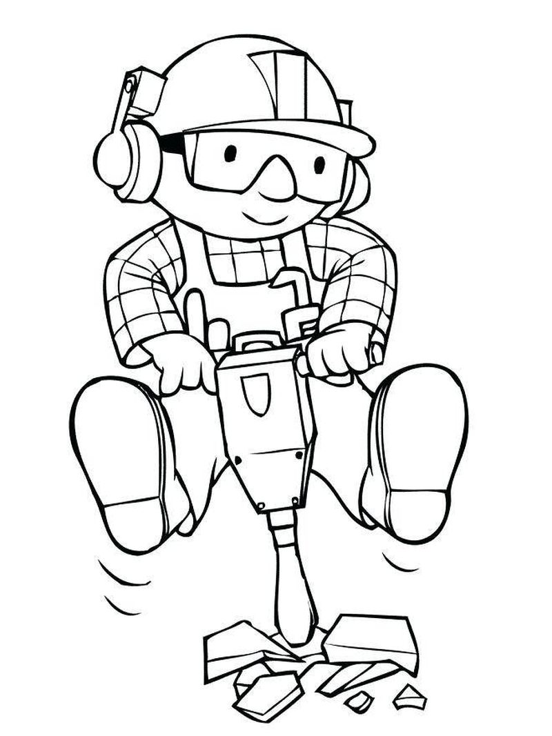 bob the builder colouring in pages