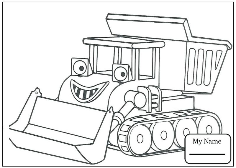 bob the builder colouring pages pdf