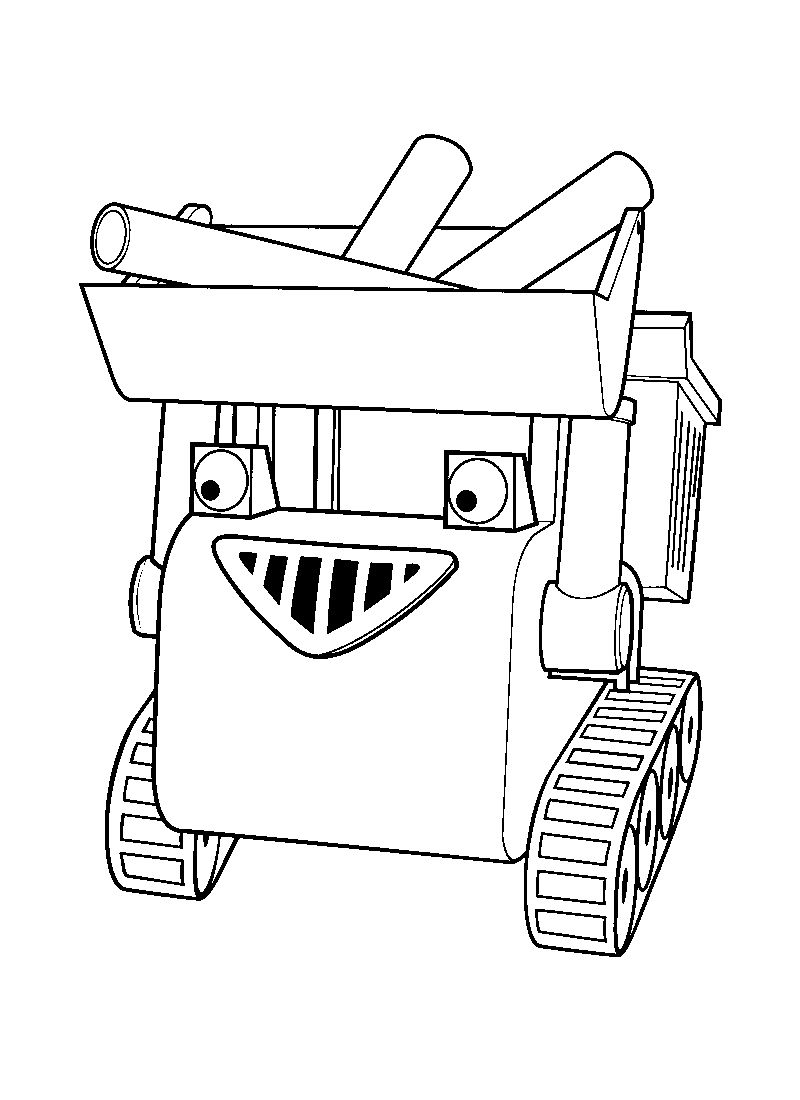 bob the builder colouring pages to print