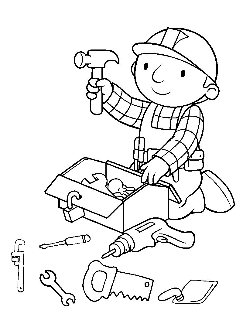 bob the builder printable coloring pages