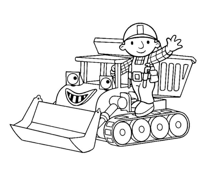 bob the builder scoop coloring pages